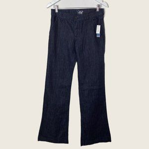 """NEW Old Navy The Flirt Tall Whiskered Dark Wash Bootcut Jeans 35.5"""" Inseam"""